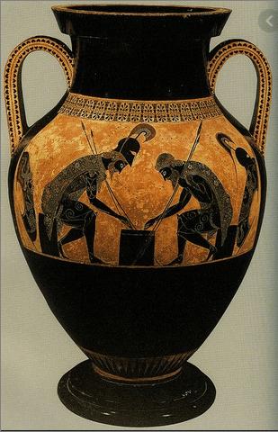 Grška vojaka pri igri